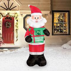 Brand NEW 7' Inflatable Countdown Santa 90680