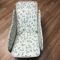 Vintage 1960-70s Mod Baby Carrier Seat SEAT Blue Floral Prop...
