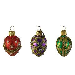 Ornaments Hanging Holiday Bejeweled Egg Easter Christmas Decor...