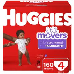 Huggies Little Movers Diapers Size 4 160 ct.