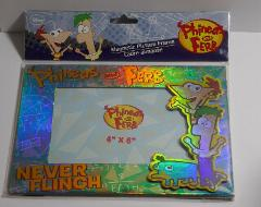 Disney Phineas and Ferb 4x6 Magnetic Picture Frame SEALED