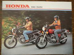 81 HONDA CB650 NOS OEM DEALER'S SALES SHEET BROCHURE CB 650