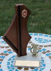 Mid-Century Trophy Music Harp Junior Grange Talent Geometric A...
