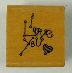 I LoveYou Valentine's Day Rubber Stamp Greeting Card Expressio...