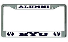 Brigham Young University Alumni Chrome License Plate Frame