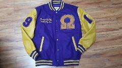 OMEGA PSI PHI FRATERNITY WOOL LETTERMAN JACKET Q-DOG WOOL FRAT...