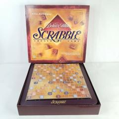 Scrabble Crossword Deluxe Edition Turn Table Board Game 1999 C...