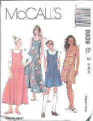 8839 UNCUT McCalls Vintage Pattern Easy Fitting Summer Dress J...