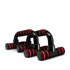 TKO Black Red Athletic Core Training Workout 2-Set Push-Up Bar...