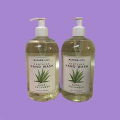Nature Love ALOE + CUCUMBER Soothing Hand Wash 16.9 fl oz w/ P...
