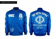 Phi Beta Sigma Fraternity Jacket Blue Bomber Jacket GOMAB 1914...