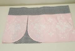 Lambs Ivy Duchess Window Valance Pink Black White Geometric Fl...