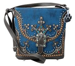 HW Collection Western Purse Tribal Rhinestones Buckle Conceale...