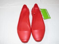 Crocs Womens Sienna flat w Flame red standard fit 202811 W 9 W...