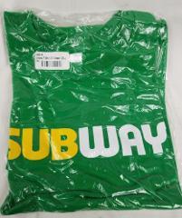 Subway 2 XL restaurant employee uniform shirt New style Short...