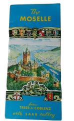 Vintage The Moselle panorama and guide map Trier Koblenz Saar ...