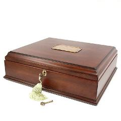 Bombay Old World Wooden Treasure Box and memory Box with Br...