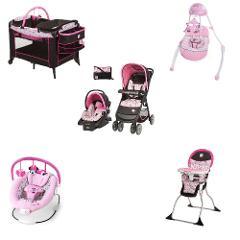 Disney Minnie Baby Bundle Baby Gear Bundle Collection, Travel ...