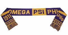 OMEGA PSI PHI Fraternity Scarf PURPLE GOLD OMEGA PSI PHI SCARF...
