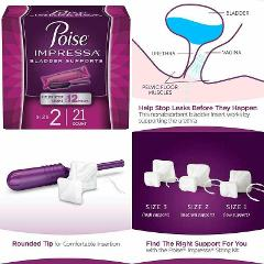 Poise Impressa Incontinence Bladder Supports For Bladder Contr...