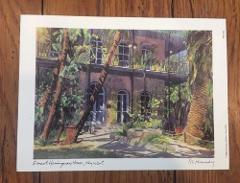 Ernest Hemingway House, Key West RE Kennedy Art Print 1992 Flo...