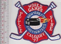 New York City NYC Fire Department Fire & Police World Games Ic...