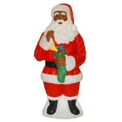 African American Santa Claus Light Up Yard Christmas Decoratio...