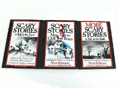 Scary Stories to Tell in the Dark 3 Book Set Halloween Alvin S...