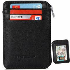 RFID Blocking Sleeves Front Pocket Wallet for Men Secure Credi...