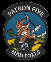 US NAVY VP-5 MAD FOXES PATCH PATROL SQUADRON