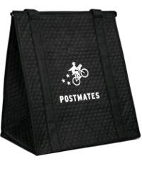 Official Postmates hot cold thermal insulated tote bag zipper ...