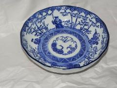 Chinese Japanese Transferware Late 19c Porcelain Bowl 5 3/4