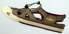 KEEN 5393 Coronado Bungee Taupe Canvas Water Sport Sandals Wom...