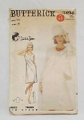 Dress Jacket Semi Fitted Misses Size 10 Bust 31 Butterick 3494...
