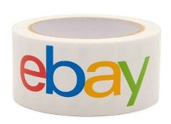 2 Rolls EBAY Branded Shipping Packing Tape ~ Classic Logo ~ 2