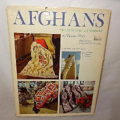 Afghans Traditional and Modern 36 Patterns Book 1977 Bonita Br...
