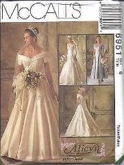 6951 UNCUT Vintage McCalls SEWING Pattern Wedding Dress Bridal...