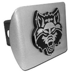 Arkansas State Brushed Chrome Hitch Cover