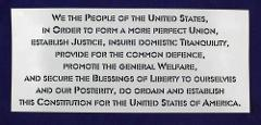 Preamble of Constitution -USA -1 Piece Stencil Painting /Craft...