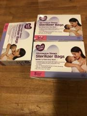 Parents Choice Microwave Sterilizer Bags Breast Milk Bags 15 B...