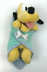 Disney BABIES Pluto LOVEY Plush MICKEY Mouse YELLOW Puppy Dog ...