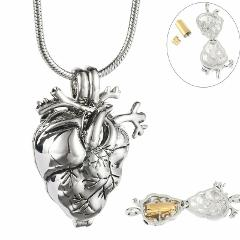 EternallyLoved Anatomical Heart Necklace Cremation Organ Penda...
