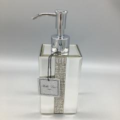 Bella Lux Mirror Rhinestone Crystal Liquid Soap Dispenser Bath...