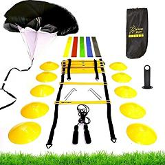 Premium Speed Agility Training Set-Equipment Kit Includes Ladd...