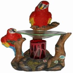 Parrots Fragrance Lamp Oil Warmer Electric Polyresin Nightligh...