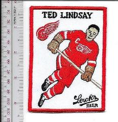 Beer Hockey Ted Lindsay Detroit Red Wings & Stroh's Beer Late...