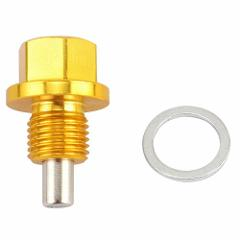 GOLD ANODIZED Magnetic Engine Oil/Transmission Drain Plug M12X...
