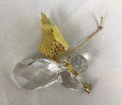 Roman Heavenly Wings Crystal Angel Christmas Ornament Collectible
