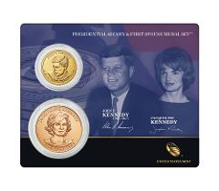 2015 US Mint John F. Kennedy Presidential $1 Dollar Coin & 1st...