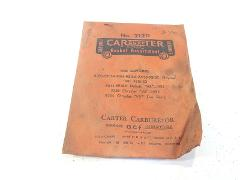 Vintage Carter Carburetor Gasket Assortment No. 212D For 1951-...